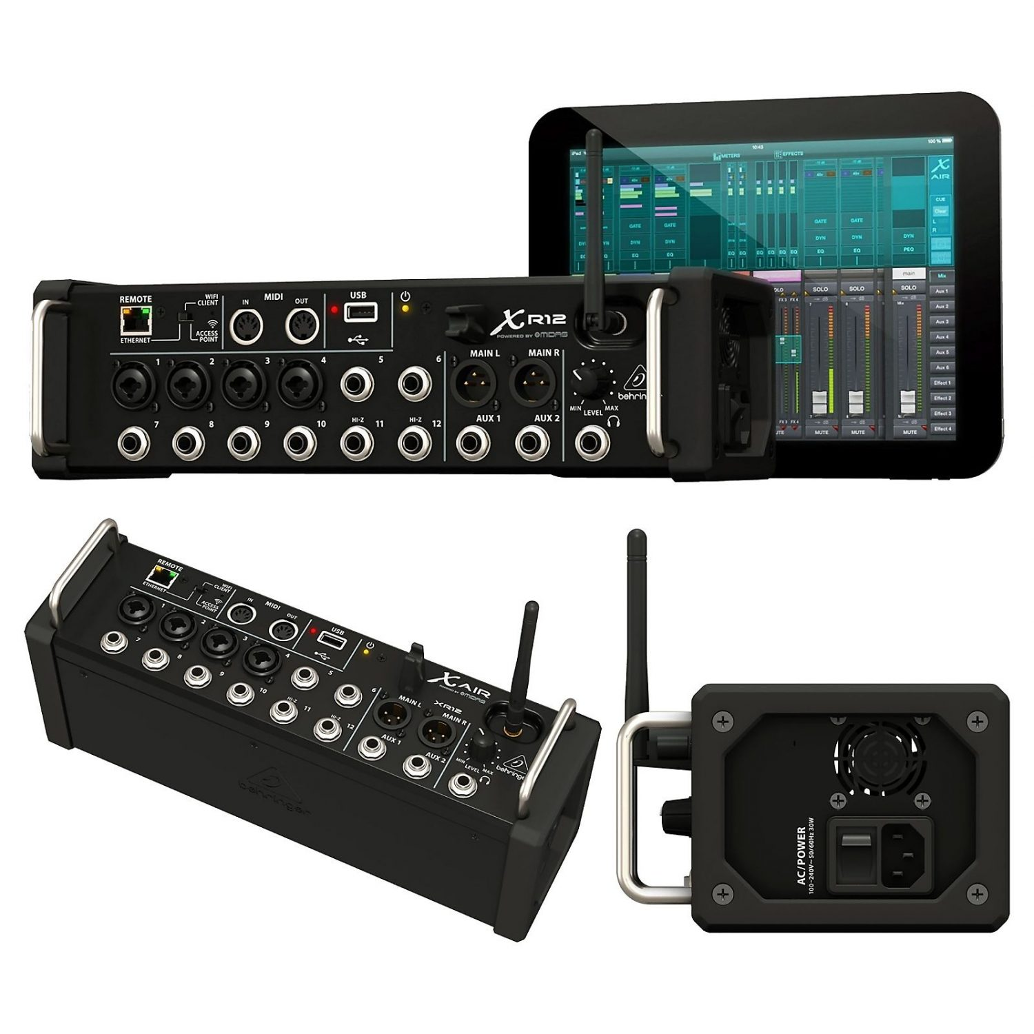 behringer x air xr12 12 input digital mixer for ipad android free shipping. Black Bedroom Furniture Sets. Home Design Ideas
