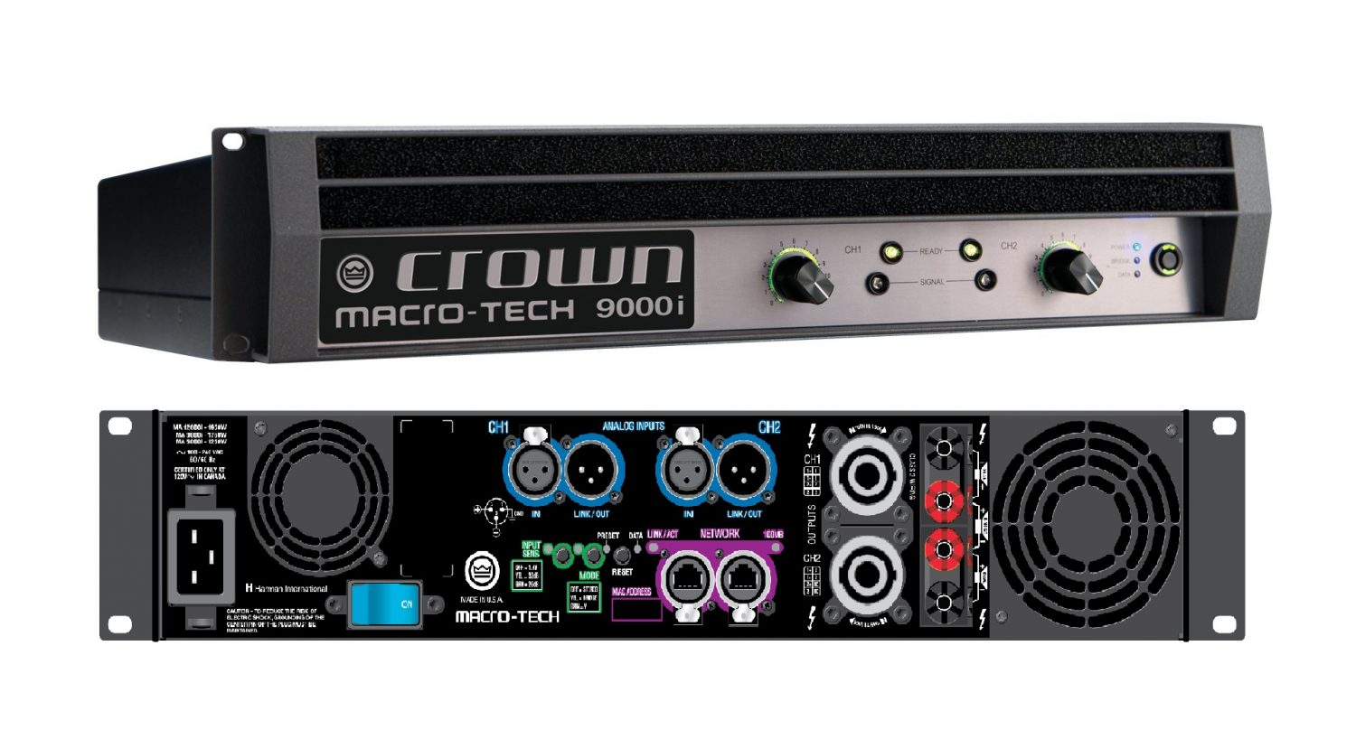 crown audio ma9000i 2 channel 3500w power amplifier free shipping. Black Bedroom Furniture Sets. Home Design Ideas