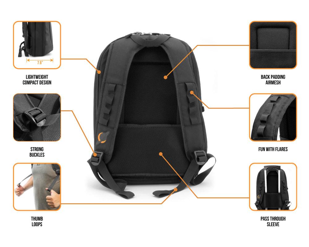 Orbit Concepts Jetpack Slim Dj Bag Backpack