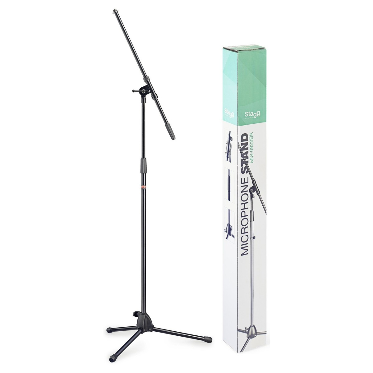 stagg mis 0822bk microphone boom stand free shipping. Black Bedroom Furniture Sets. Home Design Ideas