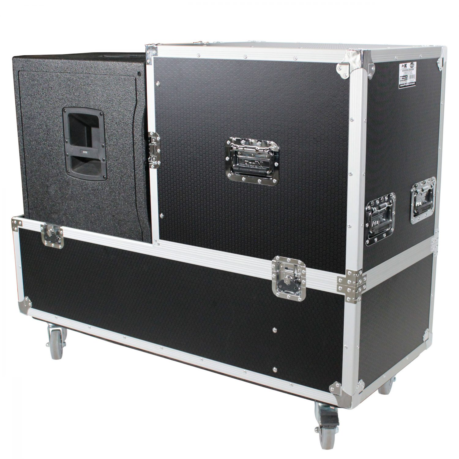 ProX X-RCF-EVOX12X2W ATA Style Flight/Road Case For RCF EVOX Speaker Array  System - Fits Two Speakers & Subwoofers